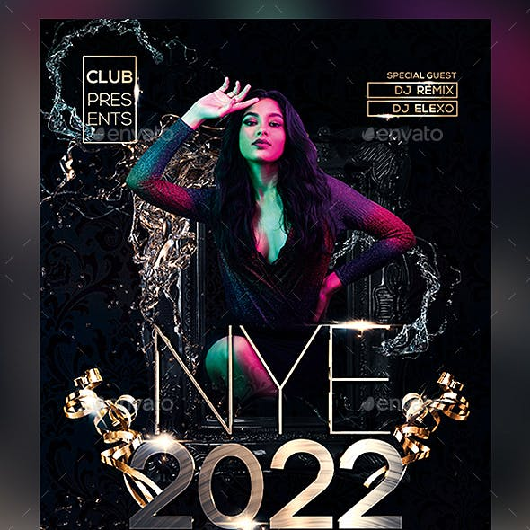 2022 New Year Party Flyer