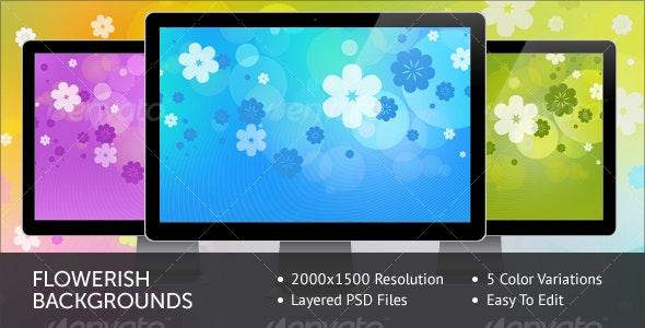 Flowerish Backgrounds - Backgrounds Graphics