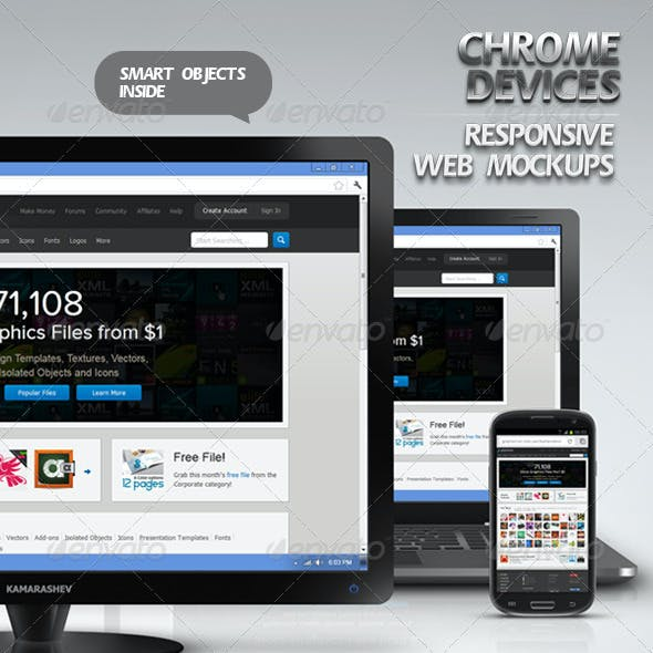 Chrome Devices - Responsive Web Mockups