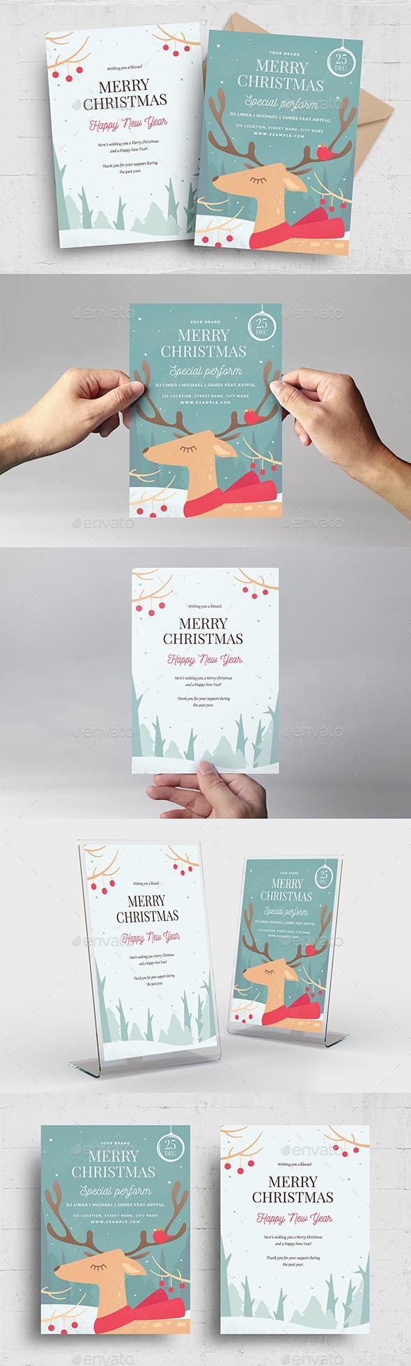 Merry Christmas Greetings Cards - Holiday Greeting Cards