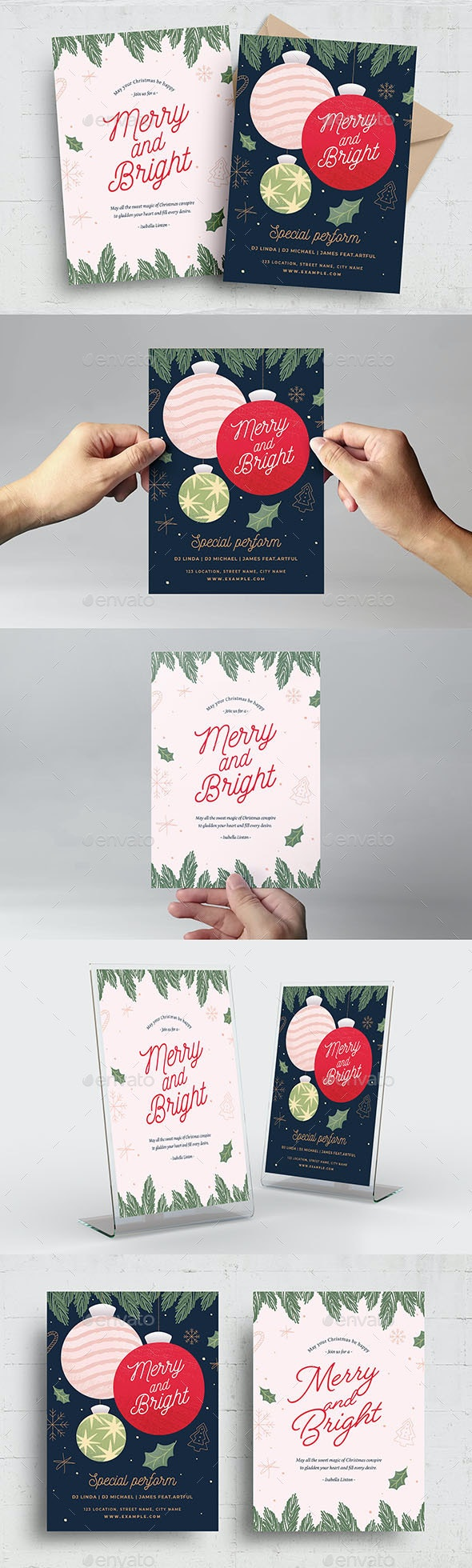 Christmas Card Flyer Template - Holidays Events