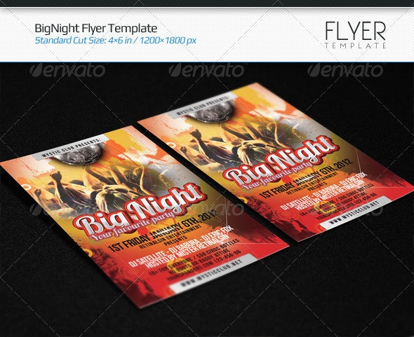 BigNight Flyer Template - Clubs & Parties Events