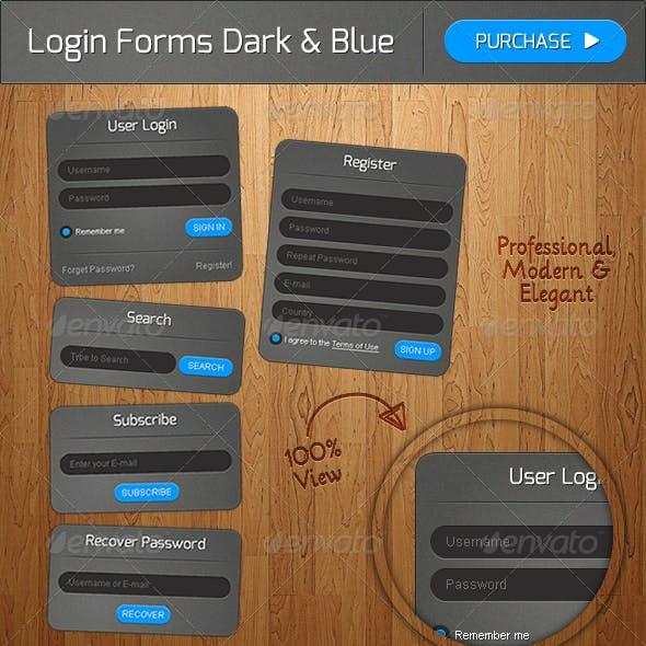 Dark & Blue Forms