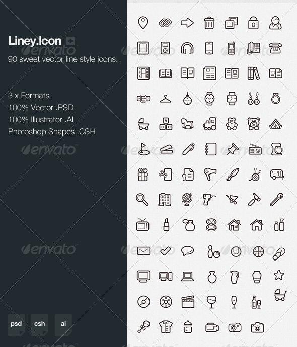 Liney.Icon - Web Icons