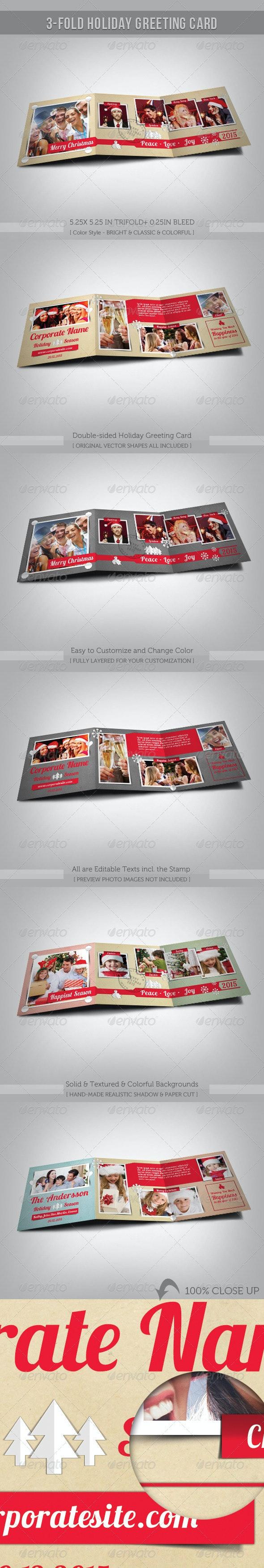 3-Fold Holiday Greeting Card - Holiday Greeting Cards