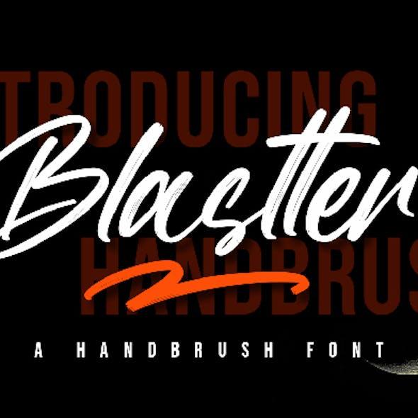 Blastter - Brush Font