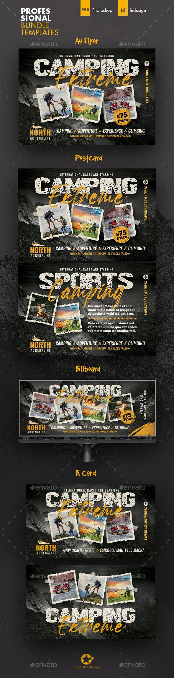 Camping Adventure Bundle Templates - Events Flyers