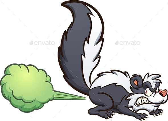 Skunk Spraying - Animals Characters
