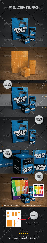 Various Box Mockups - Miscellaneous Packaging