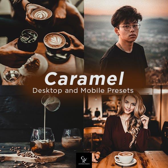 6 Caramel Lightroom Presets