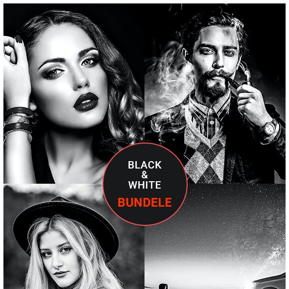 Black & White Photoshop Action Bundle