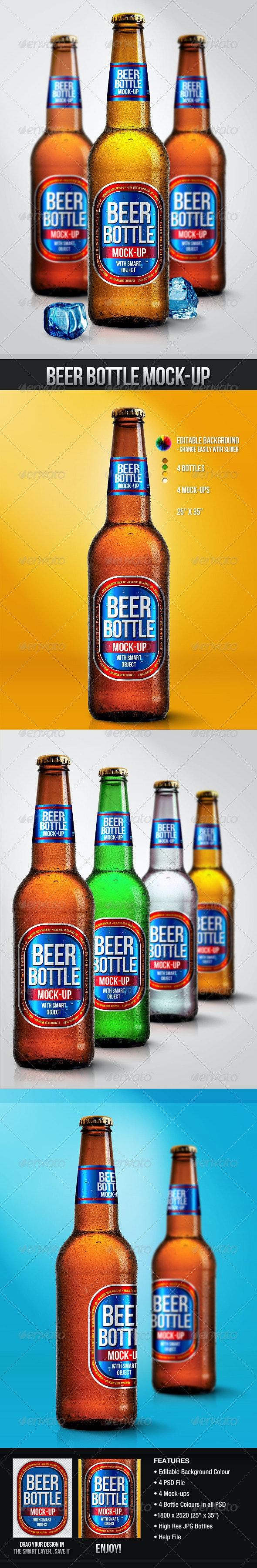 Beer Bottle Mock-Ups - Food and Drink Packaging