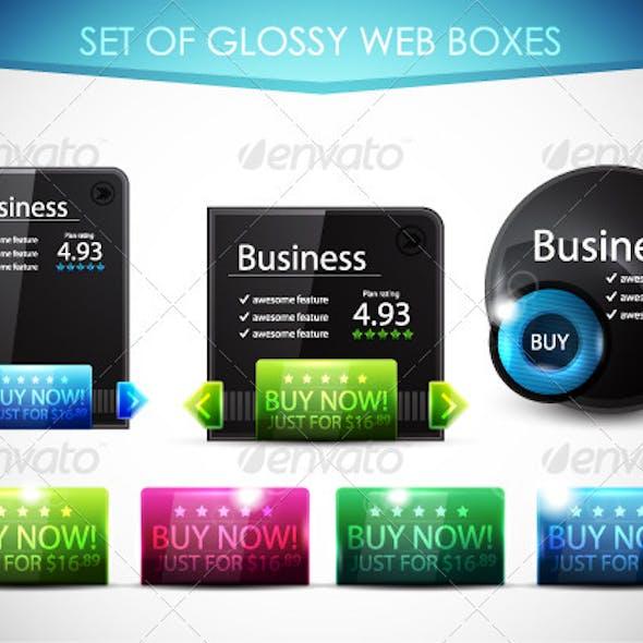 Glossy Black Web Boxes