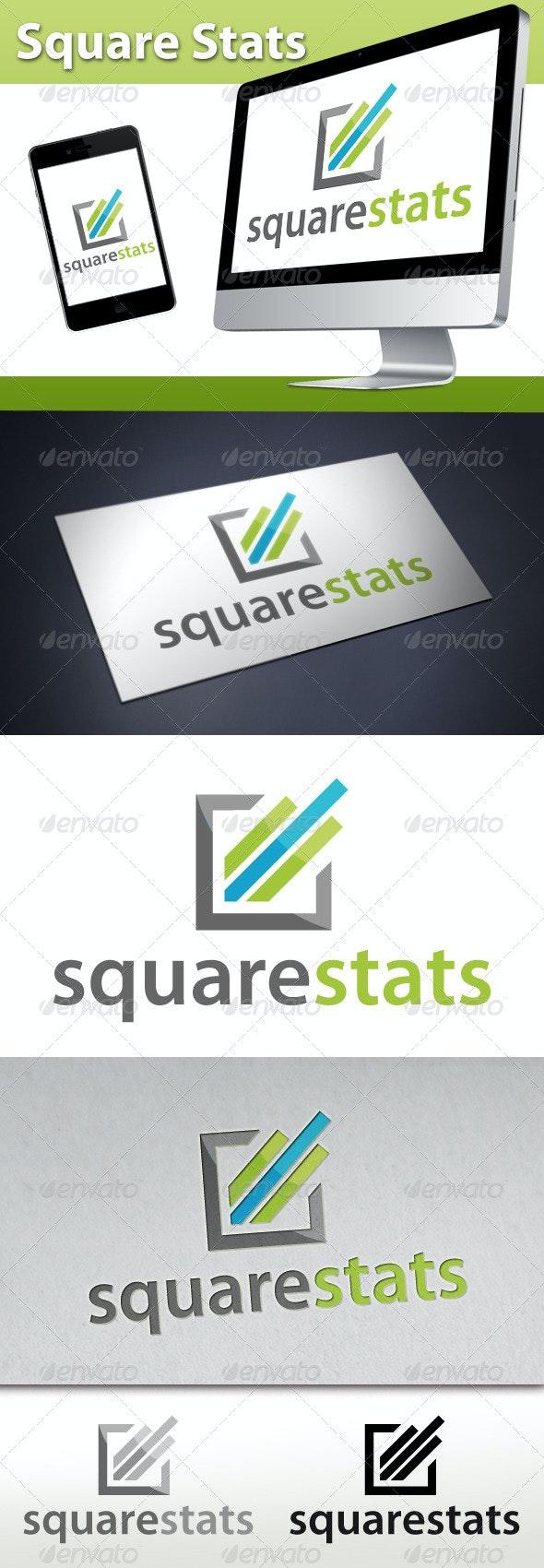 Marketing Square Stats Logo - Symbols Logo Templates