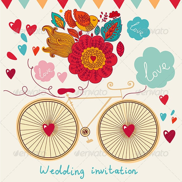 Vector Wedding invitation - Decorative Vectors
