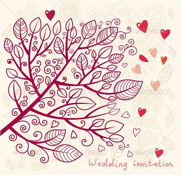 Elegance vector design of wedding invitation - Decorative Vectors
