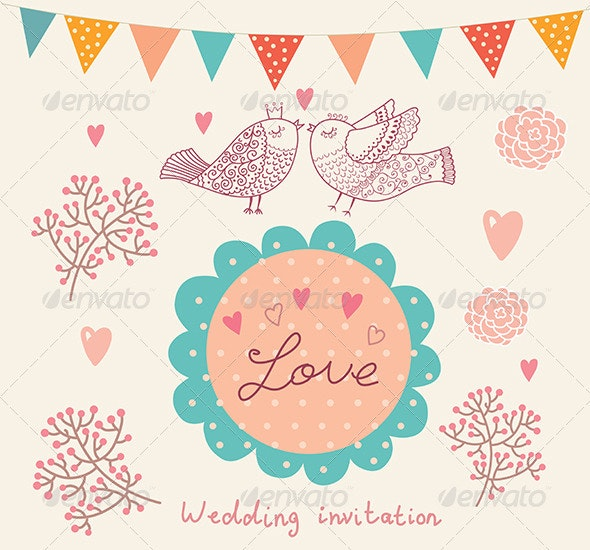 Elegance vector design of wedding invitation - Weddings Seasons/Holidays