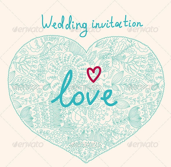 Elegance vector design of wedding invitation - Weddings Seasons/Holidays