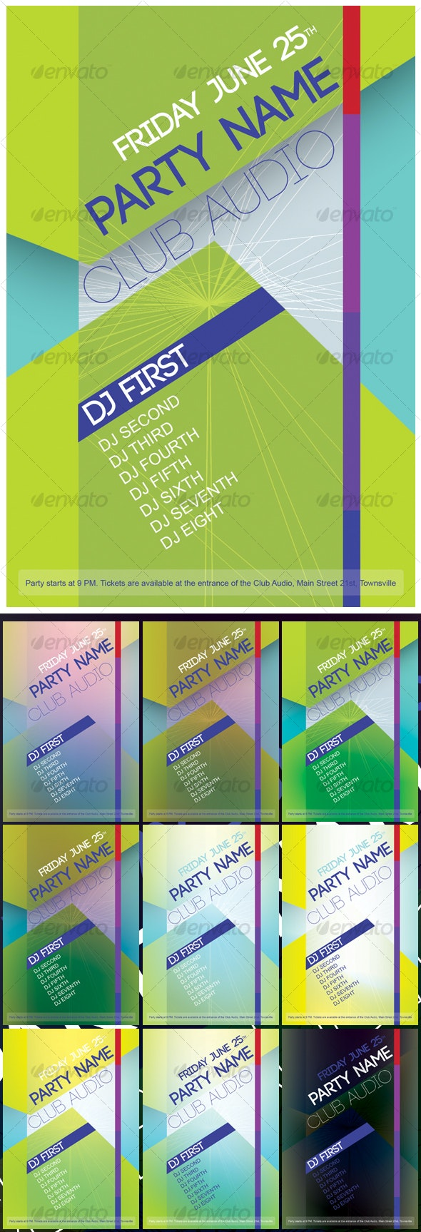 Colorful Vibrant Flyers - Clubs & Parties Events