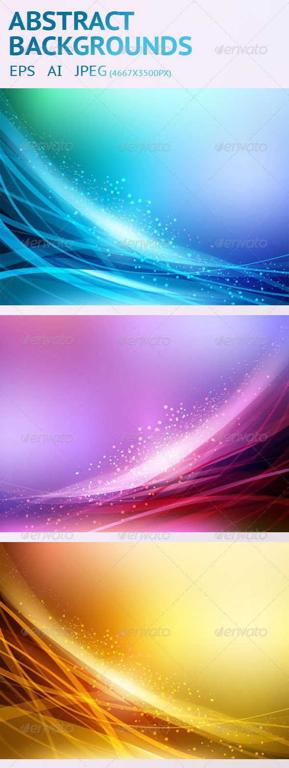 3 Abstract Vector Backgrounds - Backgrounds Decorative