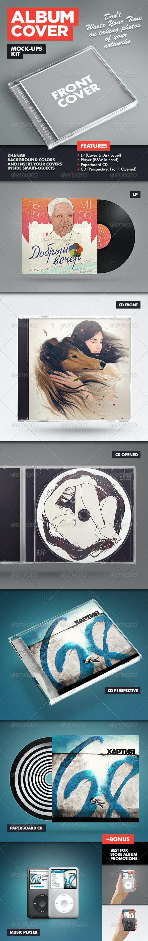 Album Cover Mock-Ups Kit - Discs Packaging