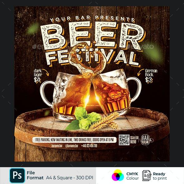 Beer Menu Flyer