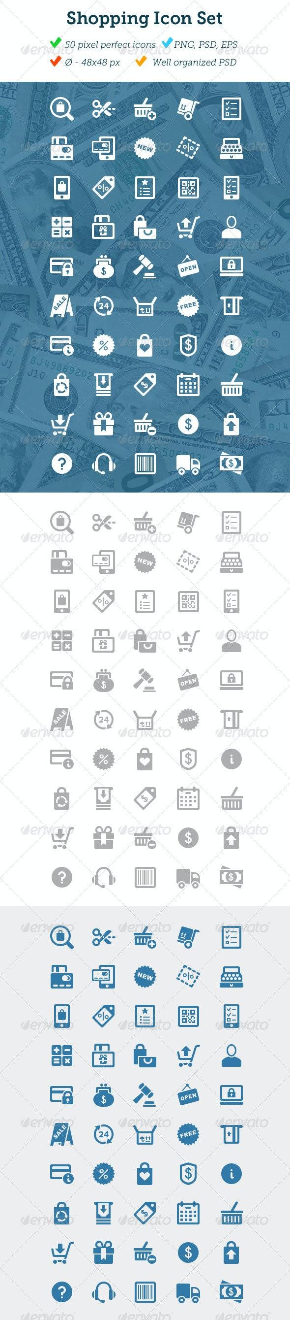 Shopping Icon Set - Business Icons
