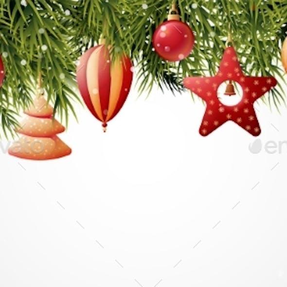 Pine Tree Christmas Banner