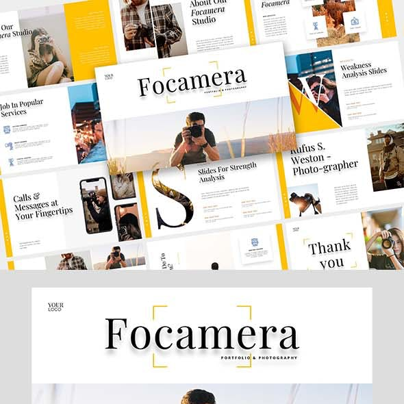 Focamera – Photography & Portfolio Each slide in the Keynote Template
