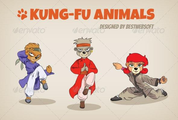 Kung-Fu Animals - Animals Characters