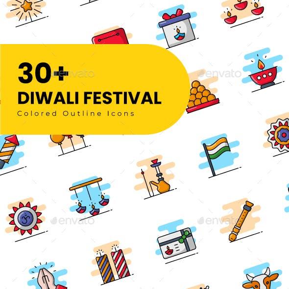 Diwali icons