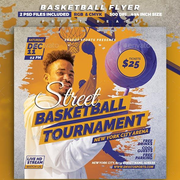 Street Basketball Tournament Flyer