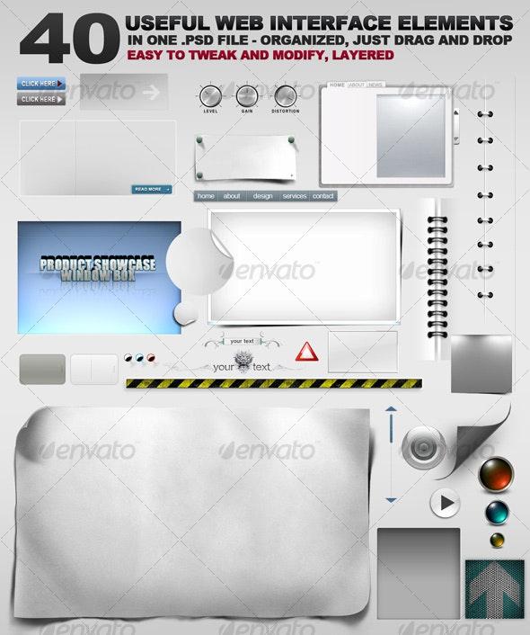 40 Web Graphic Goodies - Miscellaneous Web Elements