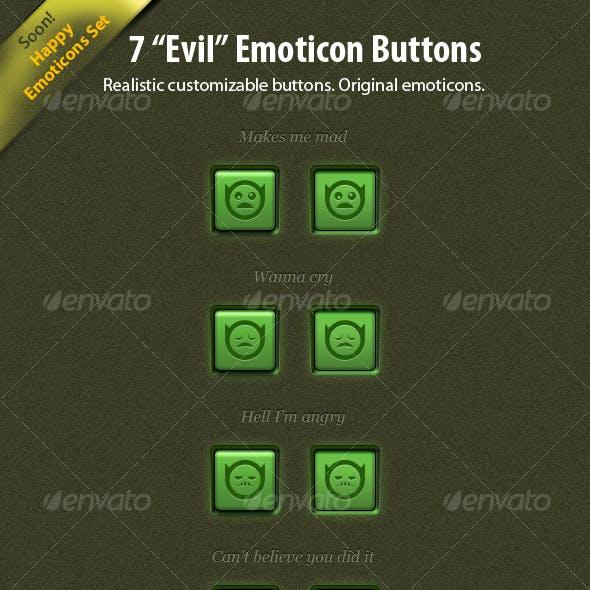 "7 ""Evil"" Emoticon Buttons"