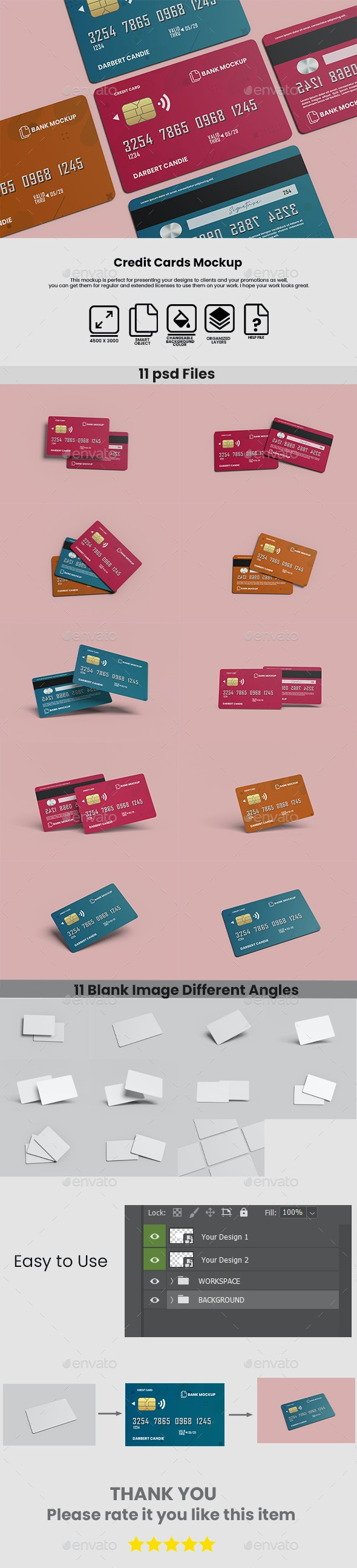 Credit Cards Mockup - Miscellaneous Print