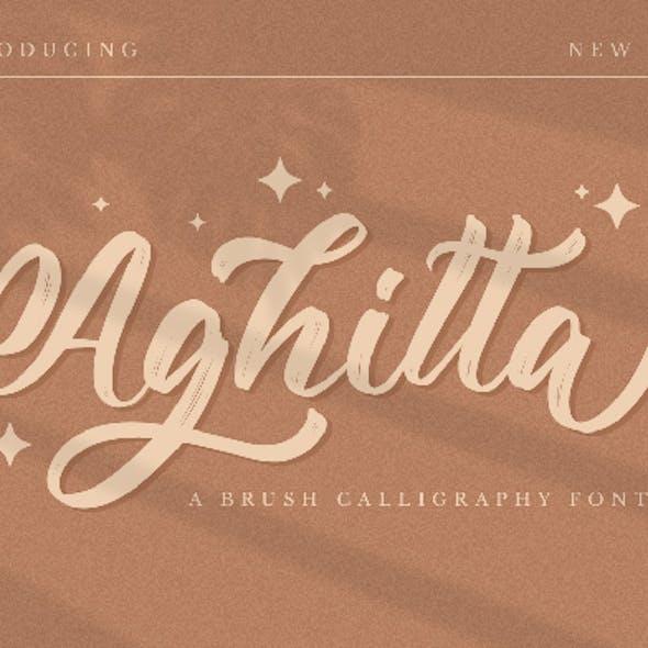 Aghitta - Brush Script Font