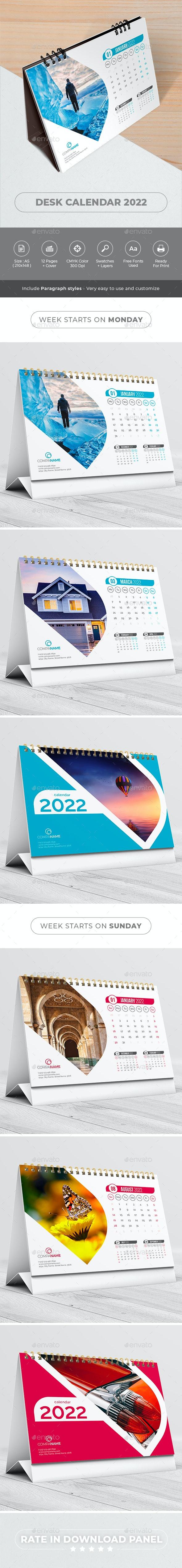 Desk Calendar 2022 - Calendars Stationery