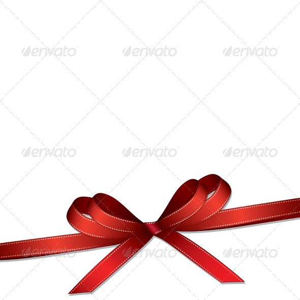 red ribbon and bow background  - Decorative Vectors