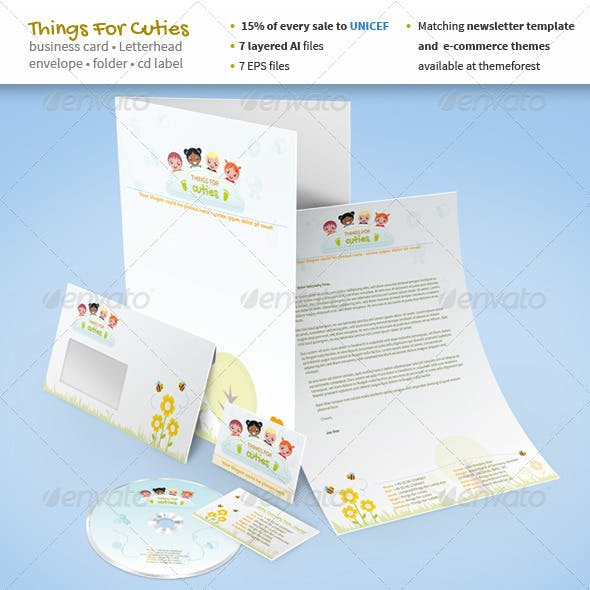 Things For Cuties - Stationery for Baby Related