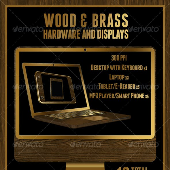 Wood & Brass Hardware and Display