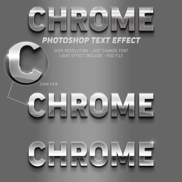 Realistic Chrome Photoshop Text Effect