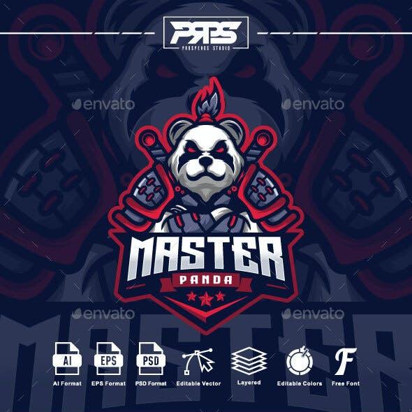 Samurai Panda Esport Logo