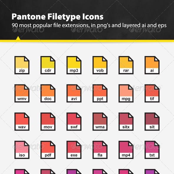 Pantone Filetype Icons Set