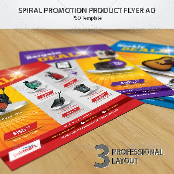 Spiral Promotion Product Flyer Ad