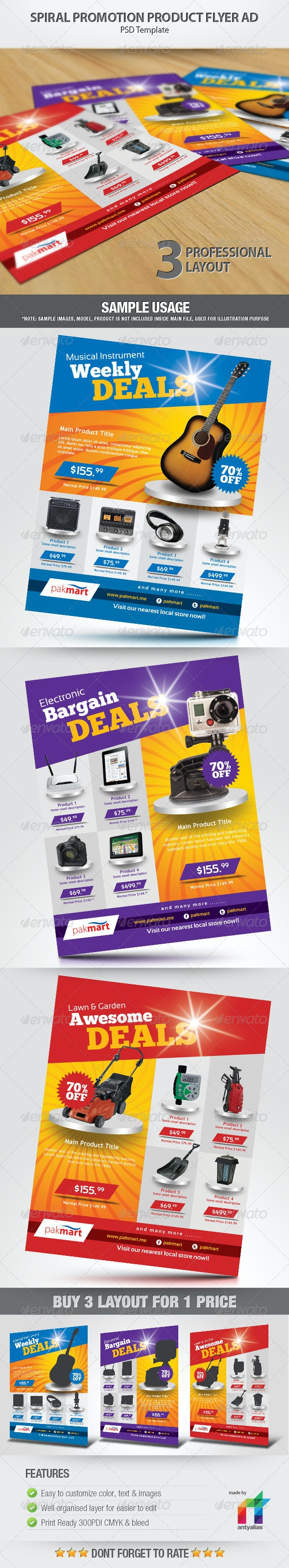 Spiral Promotion Product Flyer Ad - Commerce Flyers