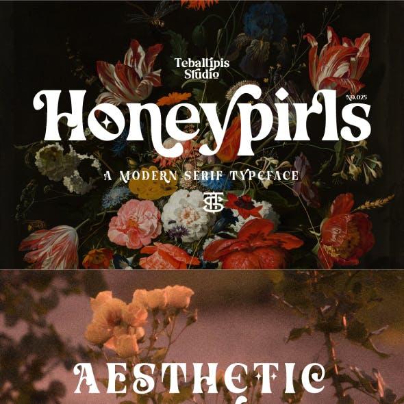 Honeypirls - Retro Serif Font