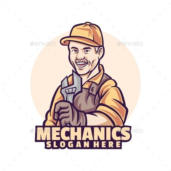 Mechanics logo template