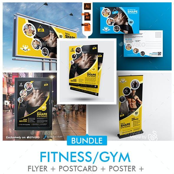 Fitness Center Promotional Print Template Bundle