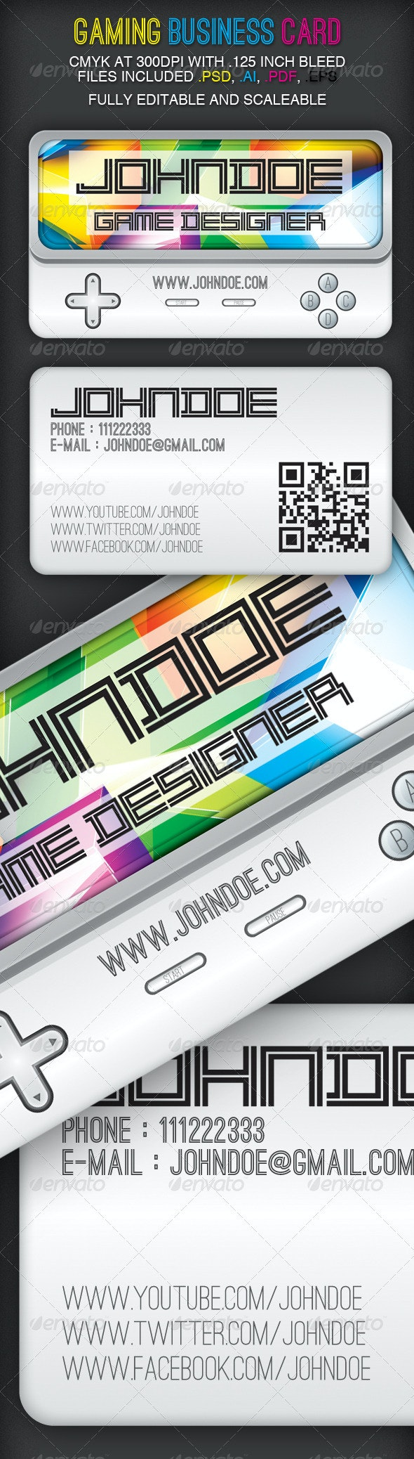 Gaming Business Card Design - Creative Business Cards