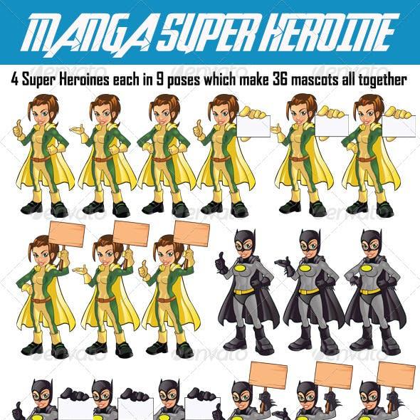 Manga Super Hero Girl